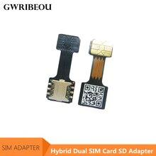 Mini adaptador de ranura SIM para Meizu, Huawei, Xiaomi, Redmi, Tarjeta SIM doble híbrida + extensor de adaptador de tarjeta Micro SD TF