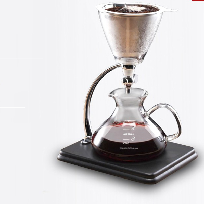 Glass Percolator pot with switch High temperature Resistant Glass Coffee Maker Coffee Pot Cold coffee maker