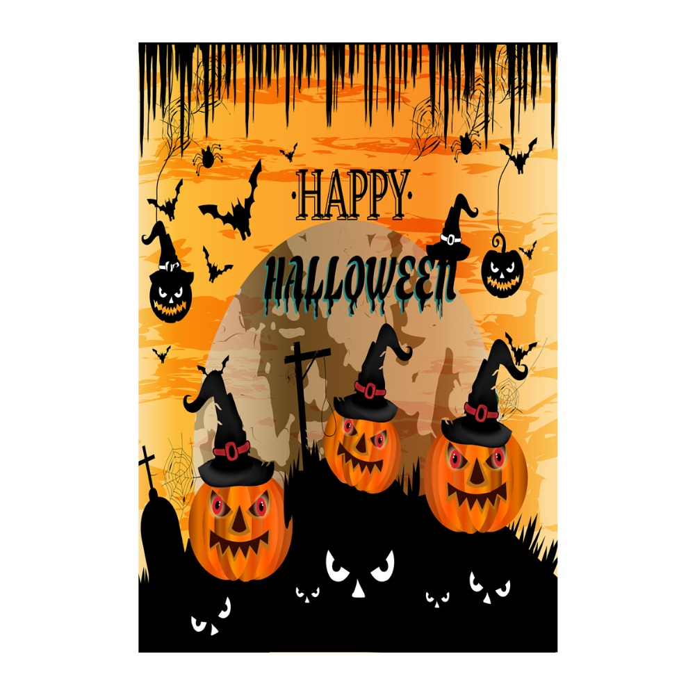 happy halloween garden flags double sided printing decorative