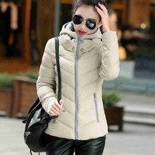 #2624 Abrigos mujer invierno 2016 Womens winter jackets and coats Fashion Slim Short Thick coat women Jaqueta feminina