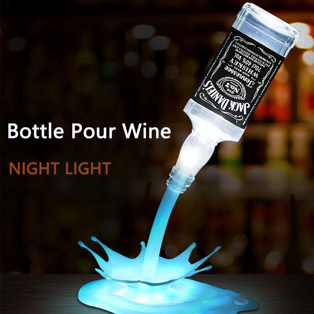 Draagbare Diy Fles Licht Usb Led Fles Gieten Wijn Nachtlampje Voor Bar Ktv Woondecoratie Touch Schakelaar Fles Tafel Lamp Aromatisch Karakter En Aangename Smaak