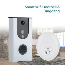 WiFi Smart Wireless DoorBell Visual Camera Door Ring Monitor+Dingdang For Home Security 2 Ways Power Supply Video Eyes Alarm wireless bluetooth and wifi smart home hd video doorbell camera phone ring security camera monitor