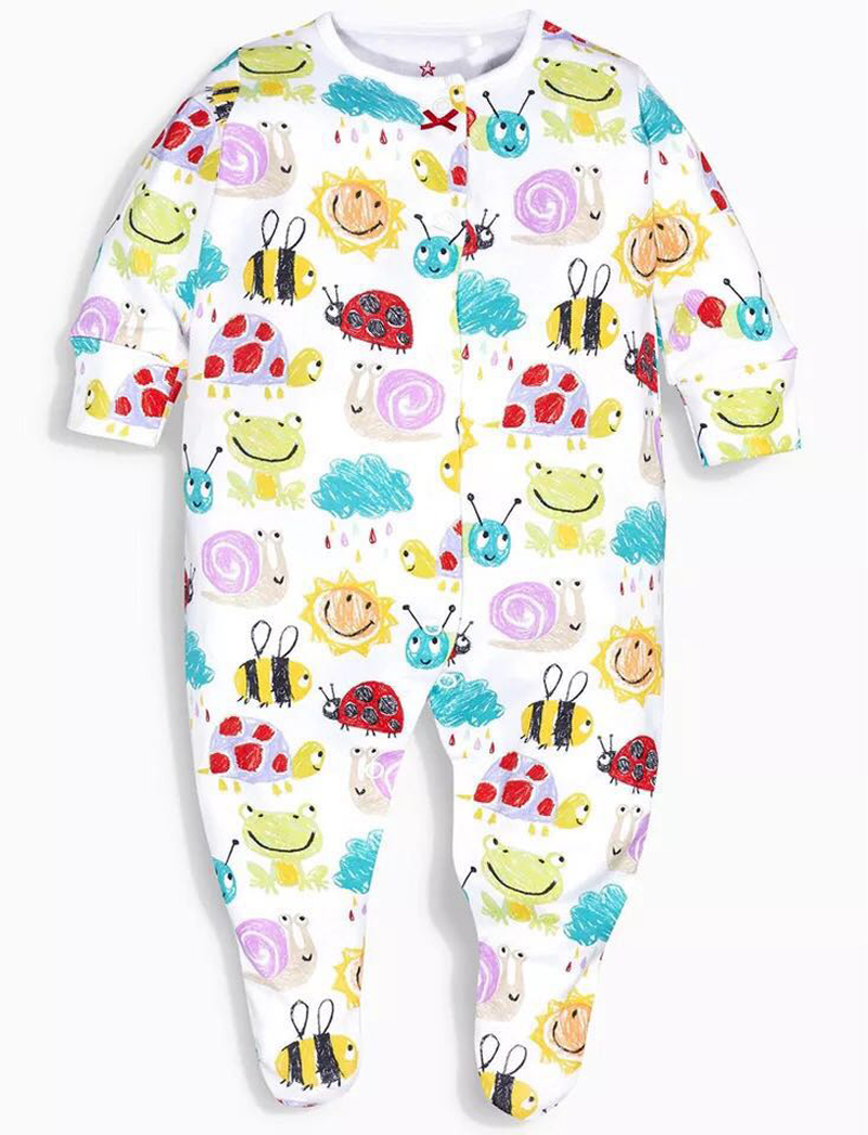 f65461799407 Newborn Baby Clothes Babies Girls Jumpsuits Baby Boys Footed Pajamas 3 6 9  12 Months Infant