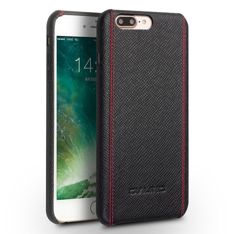Θήκη QIALINO για iphone 8 plus πολυτελές μόσχο - Ανταλλακτικά και αξεσουάρ κινητών τηλεφώνων - Φωτογραφία 3
