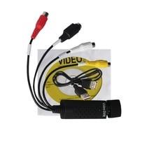 Wiistar USB 2,0 конвертер Easycap разъем видео захвата карты ТВ тюнер VCR DVD AV аудио для ПК/ноутбука Easycap видеозахвата