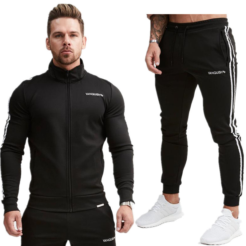 2018 Excessive High quality Vogue Gyms Health New Males's Units Sportswear Tracksuits Units Males Vogue Hoodies+Pants Informal Outwear Fits