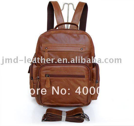 Unique Design Vintage Tan Leather Men's Brown Backpacks Bag Satchel Bookbag Shoulder Bag Travel Bag 2751-