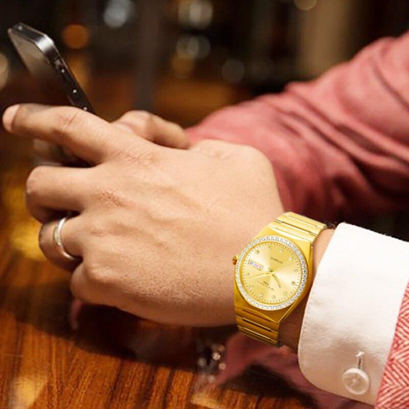 Золотые настенные часы с птицей современный дизайн домашний декор настенные часы гостиная спальня бесшумные Часы настенные креативные циф... - 6