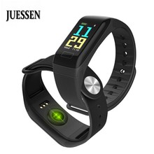 JUESSEN Sports Watch Smart Bracelet Blood Pressure Monitor Waterproof Heart Rate Monitor Pulse Meter Weather Smart Wristband