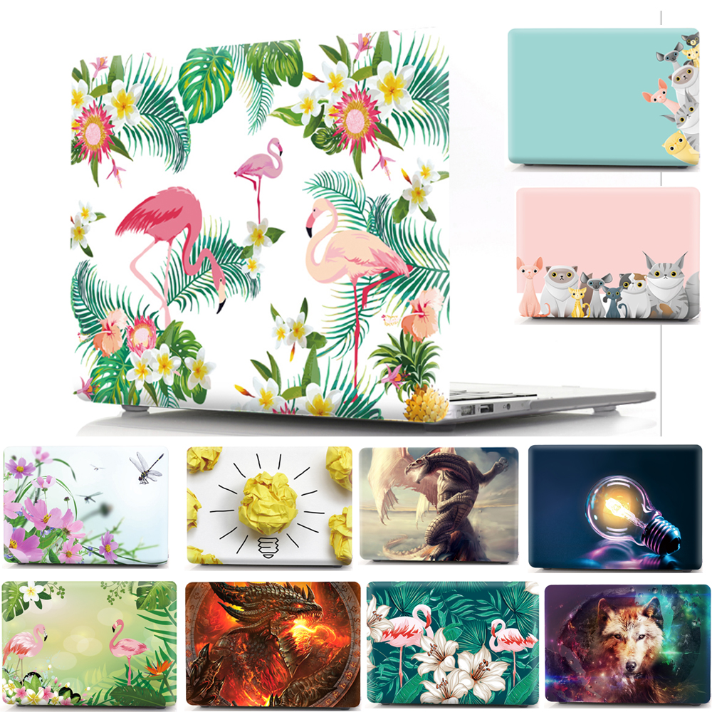Printed Animal Shell Protective Hard Case Sleeve for Apple Mac Macbook Air 11 Pro Retina 13 12 15 Pro Touch Bar 13.3 15.4 Cover