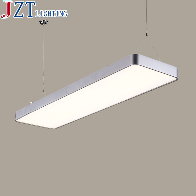 M Modern Rounded-Rectangle Style Office Led Pendant Light Black And Silver Hardware Lampshade AC90-260v Office Building Light