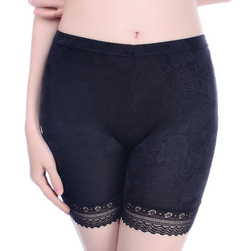 Lace Safety Short Panties Women Under Skirts Boyshorts Underwear Panties Seamless Big Size Female Everyday Safety Boxer