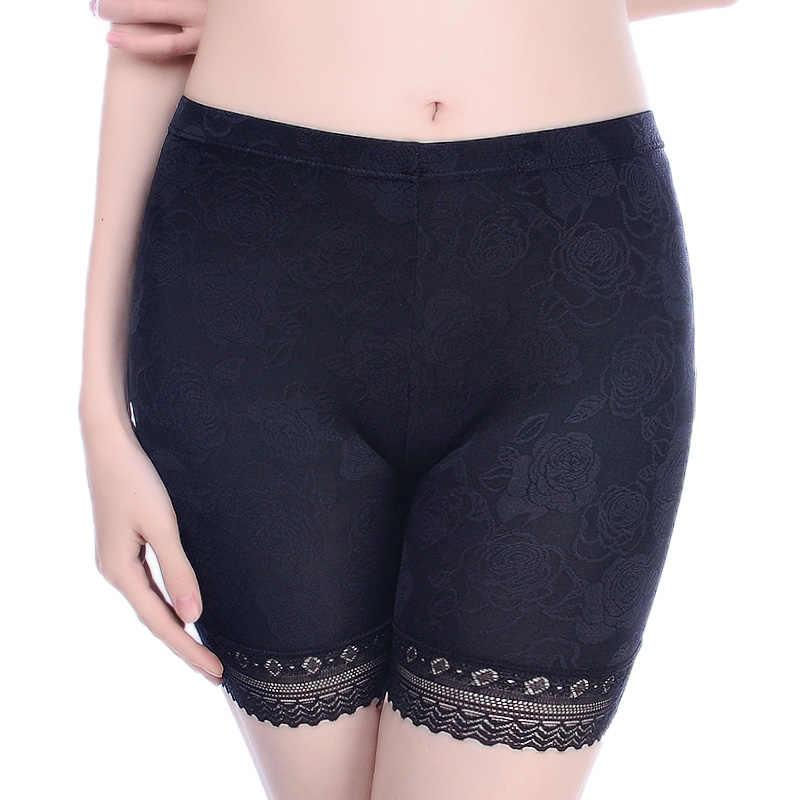 15acdc8f7f3 Lace Safety Short Panties Women Under Skirts Boyshorts Underwear Panties  Seamless Big Size Female Everyday Safety
