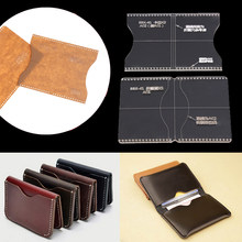Rõ ràng Acrylic Template Handcrafting Set DIY Craft Cho Leather Wallet Bag(China)