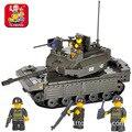 Building block sets compatible con lego pasatiempos educativo militar tanque de batalla principal 3d de construcción de ladrillo juguetes para los niños