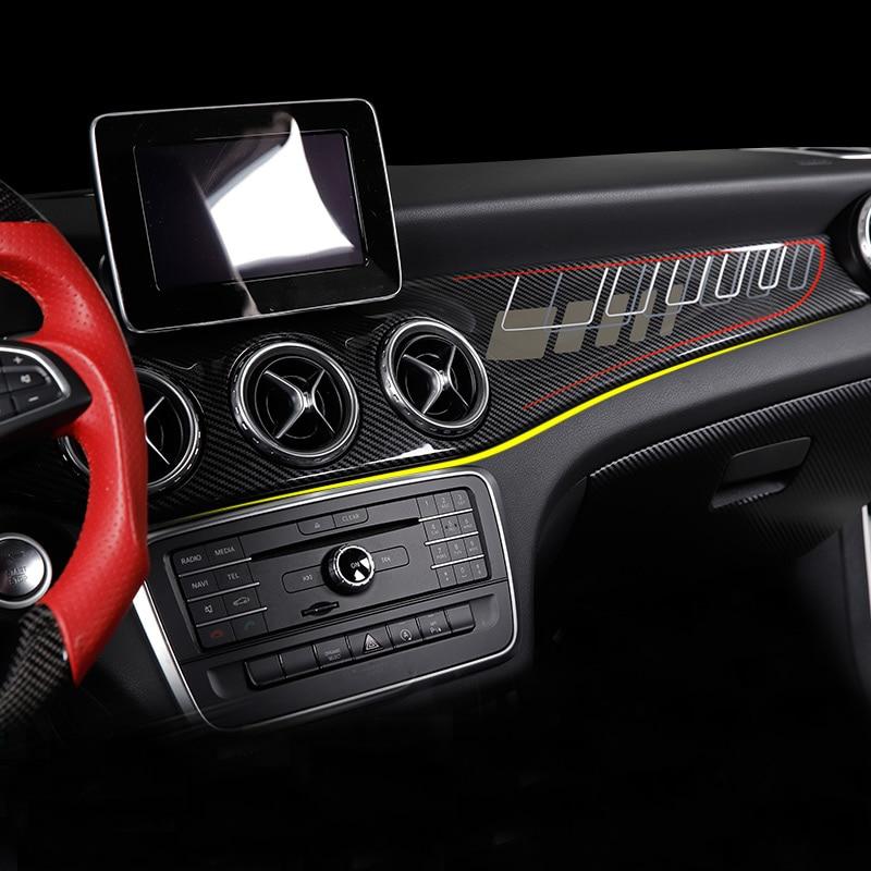 For Mercedes Gla/cla250 W117/gla X156/220/gla Amg/cla45 Carbon Fiber Car Stickers Modified Interior Control Panel Accessories