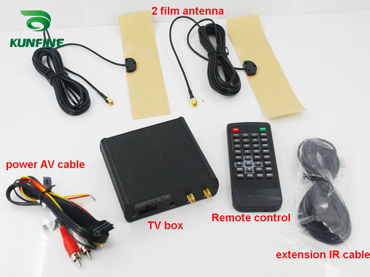 12V-24V Car ISDB-T Digital TV Receiver Box Full One Seg With Two Tuner Antenna KF-V8008 140 190km h double antenna isdb t full seg mobile digital tv box car tv receiver for brazil chile argentina peru japan