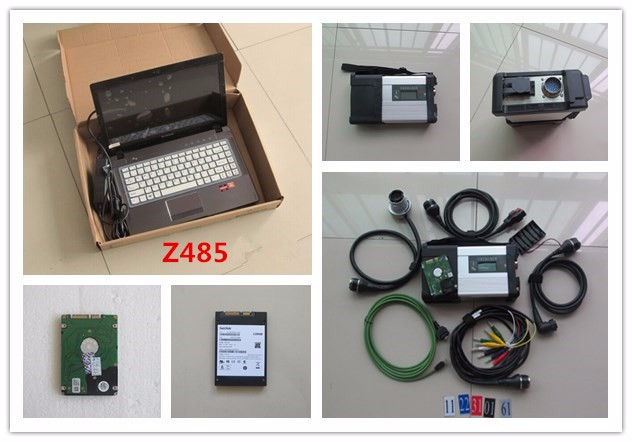 mb star c5 sd connect for car and truck diagnosis with font b laptop b font