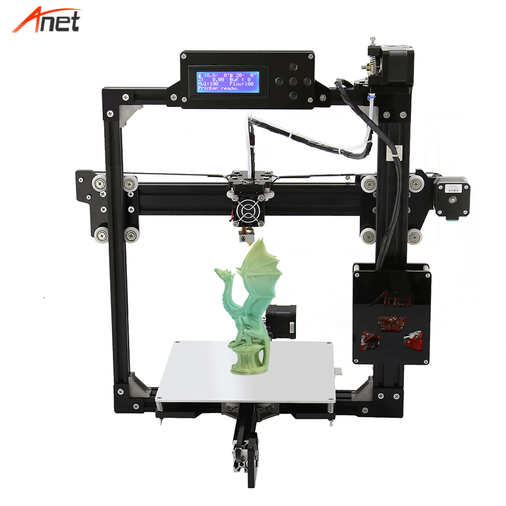 Anet A2 Plus Size Stampante 3d Easy Assembly Optional LCD 2004 12864 Aluminum Frame Impressora 3d