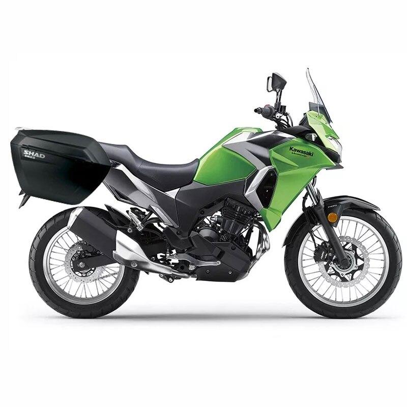 Para KAWASAKI VERSYS X300 300X2017 SÁVEL SH23 Lado Boxs + Conjunto de Rack Caixa de Bagagem Da Motocicleta Sela Sacos Suporte sistema transportador