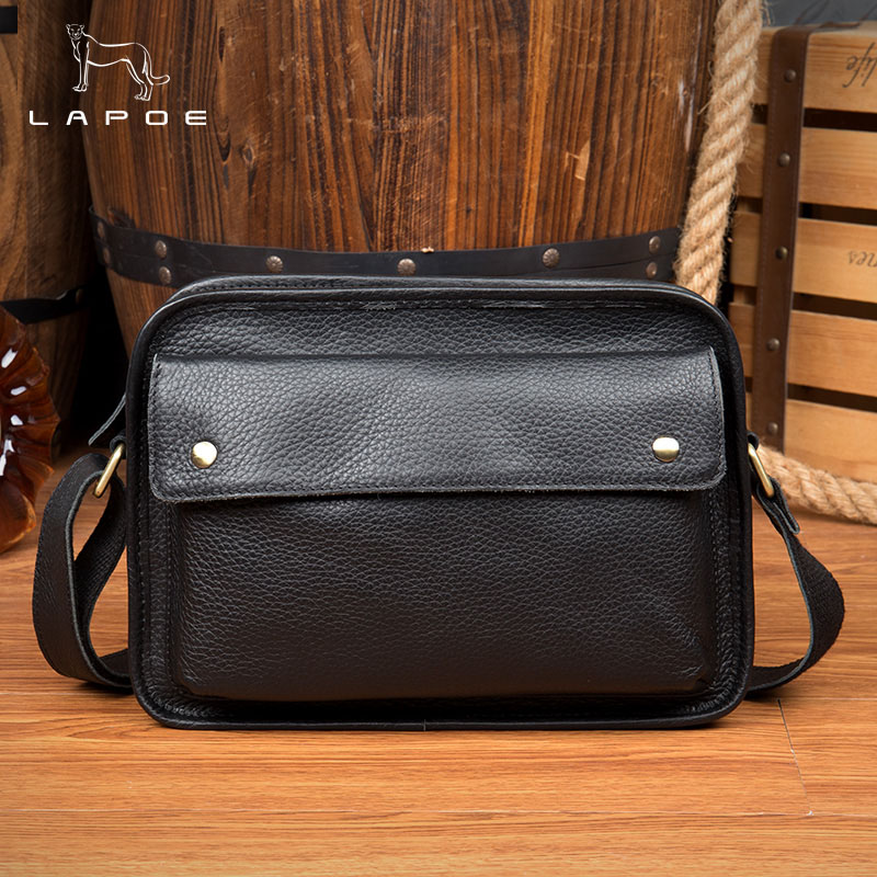 Genuine Leather Shoulder Men & Women Shoulder Bag Handbag Casual Cowhide Crossbody Bags Tote Business Casual Men Messenger Bag super hot 100% total cowhide men real leather business tote handbag messenger bag fashion casual men bag of whole cow leather