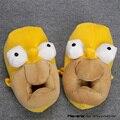 Аниме Мультфильм Гомер Джей Симпсон Плюшевые Тапочки Мягкие Игрушки Мужчины Женщины Unisex Теплые Домашние Тапочки Обувь