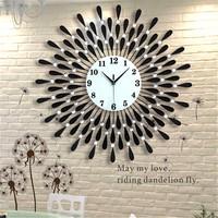 70CM Vintage Crystal Sunburst Wall   Clock   Luxury Diamond Large Morden Wall   Clock   3D Wall   Clock   Home Decor