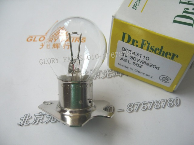 Dr.Fischer 58Z Lamp 6V 30W,for 380158,390158,Zeiss OPMI 1