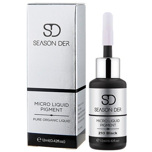 SEASON DER 2 bottles Black Permanent Makeup Ink Eyeliner Tattoo Ink Set Eyebrow Microblading Pigment Professional pigmentos