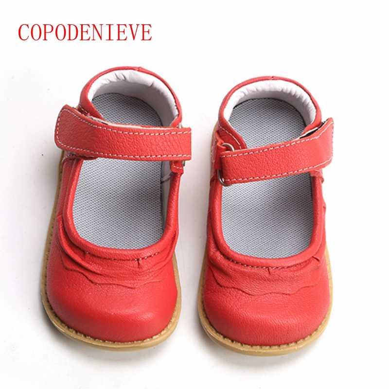 COPODENIEVE kızlar ayakkabı hakiki deri siyah mary jane çiçekleri beyaz gül çocuk ayakkabıları kaliteli stok küçük çocuklar