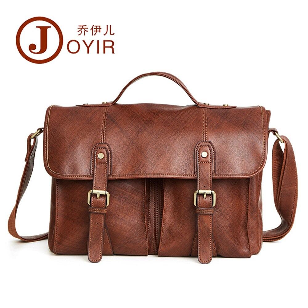 Joyir original nouveau hommes mallette en cuir véritable sac à main pour hommes mode tendance doux plantation en cuir affaires unique sac à bandoulière
