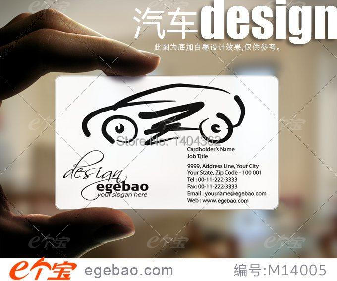Customized business card printing Plastic transparent /White ink PVC Business Card one faced printing 500 Pcs/lot NO.2115