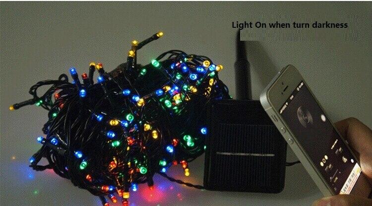 ᗚ ft m solar power led holiday lights shinning christmas