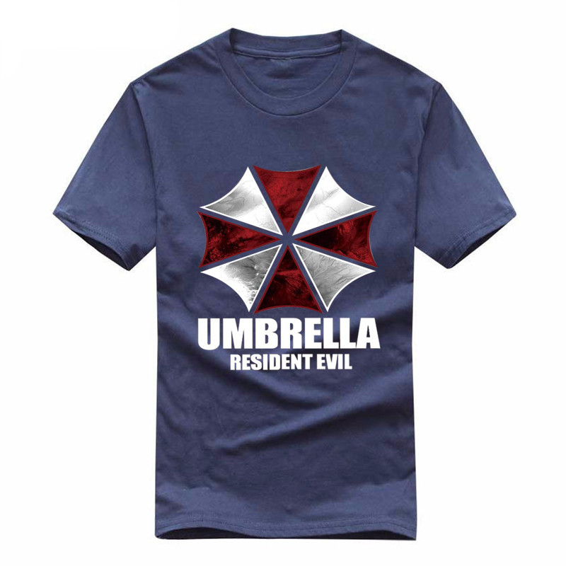 umbrella Resident Evil movie loose Printed Mens Men   T     Shirt   Hip Hop Tees Fashion New Short Sleeve O Neck   T  -  shirt   funny Cool Tee