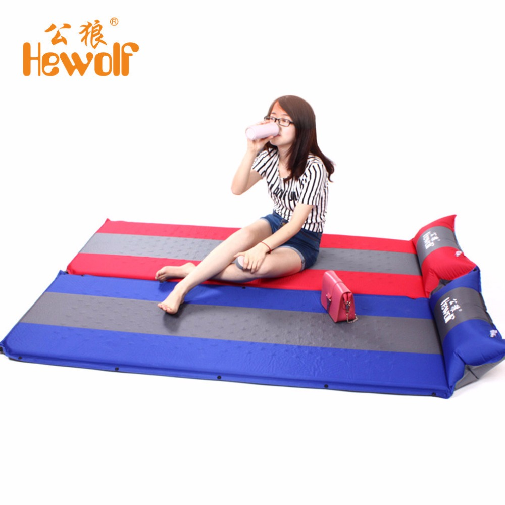1 Person Automatic Self-Inflating Mat Inflatable Cushion Packer Outdoor Hiking Camping Mat Splicing Thickening Mat 163*23*65cm