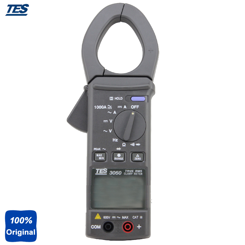 TES 3050 Auto ranging off / Data Hold / Peak Hold / MAX/MIN Mode TRMS AC/DC Clamp Meter