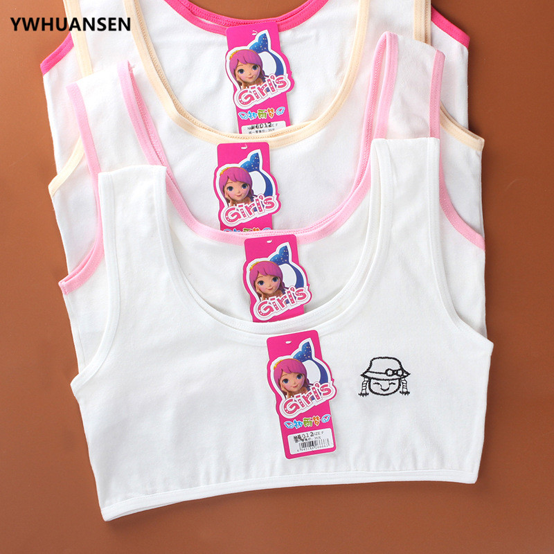 YWHUANSEN Cotton Braces Bras For Girls 12 Years Old Lingerie Small Breasts Young Girl Clothing Tops For Children Undergarments