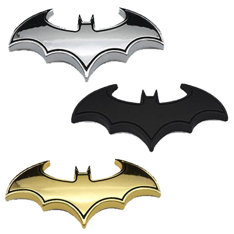 3D Batman Logo Metal Car Motorcycle Sticker Badge Emblem Tail Decals 3 Colors