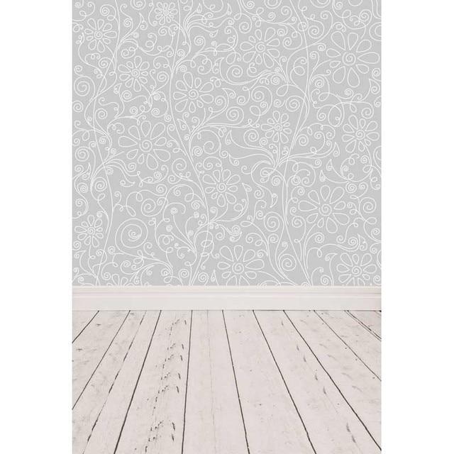 Thin Vinyl Photography Backdrop Damask patterns children Cake Smash Costume Wedding Wood Floor backdrop Photo Studio F-237