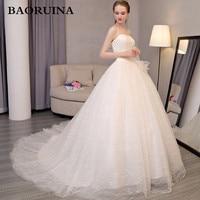 Дешевые Свадебные платья бальное платье Милая Узелок Тюль аппликация с пайетками свадебное платье Vestido де Novia 2018