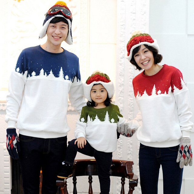 Family Matching Shirts Matching Mother Daughte Father Son Hoodies Cotton Family  Christmas Clothing Family Matching Outfits - Family Matching Shirts Matching Mother Daughte Father Son Hoodies