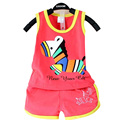 2016 New children's clothing baby suit cotton Cute pattern summer Vest & shorts baby girl clothing 1 set 2 pieces 0-2 years
