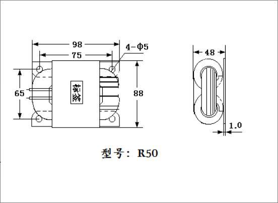 Transformador feito sob encomenda 100 v220 v