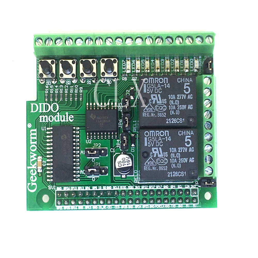 Raspberry Pi  Digital Input Digital Output Boad Compatible With PIFACE DIGITAL 2 For Raspberry Pi