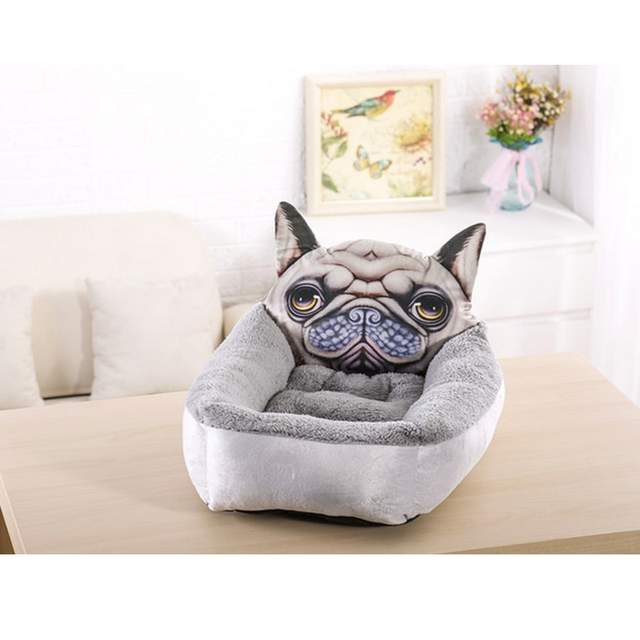 fee46beea73 Online Shop 3D Realistic Pattern Pet Bed Soft Kennel Pet Mat Dog Beds for  Small Dogs Cat Rabbit Puppy Beds Animal Supplies Warm Cattery