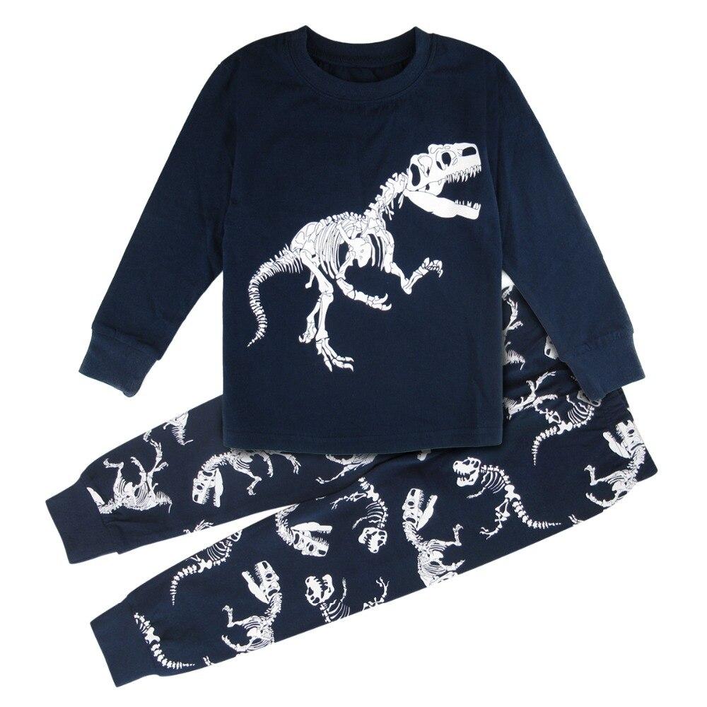 Ordentlich Kinder Pyjamas Für Jungen Dinosaurier Pyjamas Motorrad Kind Nachtwäsche Kinder Tragen Zu Hause Indoor Kleinkind Pijama Pjs Set