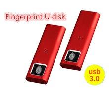 Memoria USB 128 de Metal con huella dactilar, 3,0 GB, 64GB, 32GB, 16GB y 8GB