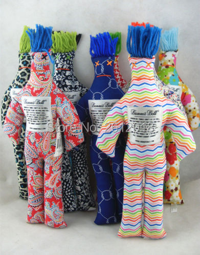"""NEW Random Pattern Color Stress Relief 12/"""" Dammit Doll Plush toy 1pc"""