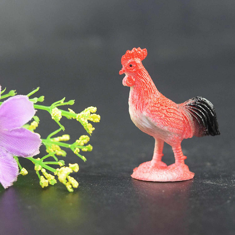 12PCS Série Animal Modelo Figuras Mini Conjunto de Modelos de Simulação de Animais de Fazenda Brinquedos Animais Brinquedos Educativos Para Crianças Presentes Do Favor