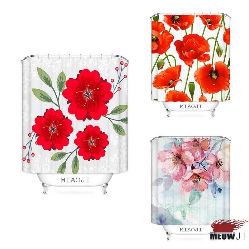 983f4b3dd Best buy [MIAOJI] China Red Wedding Decor Collection, Jubilant Printed  Polyester Fabric Bathroom Shower Curtain with Hooks Free Shipping online  cheap